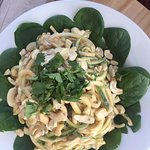 Zucchini noodles - a Thai dish, I believe