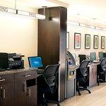 24 hour business center with comp ATM