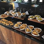 Club lounge lunch spread