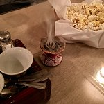 Incense and popcorn - part of the coffee ceremony