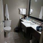 Roomy bathroom.