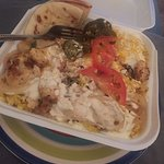 Chicken Plate....so delicious. Had been getting my Greek food at the mall...I was missing out. T