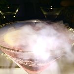 MASTRO's Signature Cosmo & Shrimp Cocktail on dry ice is a must try!