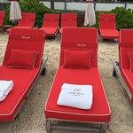 The hotel beach on St Jean
