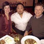 My guests, with Mario the Somelier; he offered a wine flight that was well-matched with our meal