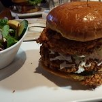 Fried chicken sandwich is awesome.