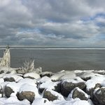 Panoramic view of Lake Erie.