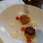 Crab Cakes - they look small but are so so good!