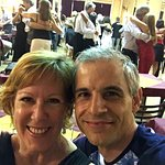 Enjoying the milonga with Alejandro Puerta