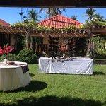 Cabana in front of bali garden