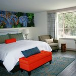 New Orleans Hotel Indigo King Bed Guest Room