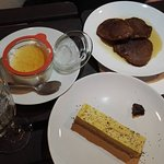Desserts: panna'crue à l'orientale, Pancake Banane & Sirop d'Érable, tarte crue citron bergamote