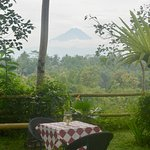The peak of Gunung Api in the distance
