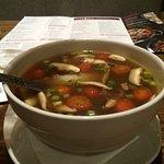 spicy chicken soup - huge servings