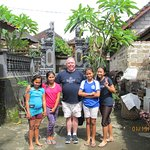 Kadek's and his brother's daughters at their home