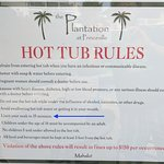 $150 fine if you stay in the Hot Tub for more than 15 minutes
