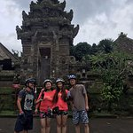 during our cycling we stop at the traditional village Temple