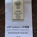 Pls. REVIEW Boracay Private Mt. Casitas Villa in TripAdvisor.cn. We give out flyers to all our C