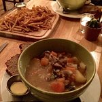 Lovely stew and fries at the Boxty