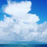 Mackay Reef on the horizon.