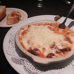 meat lasagna: the only good entree we had