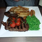 8oz Rump with homemade chips