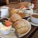 Cream tea and coffee for two