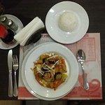 vegan massaman curry + rice