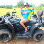 Shes more happy than the quadbike.