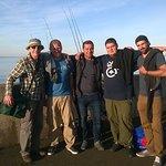 Edinburgh fishing experience with Mario, Cedi, Franz & Daniel