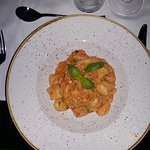 Gnocchi with prawns and salmon