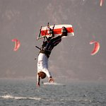 Kitesurfing at the beach