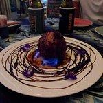 Das Gebackene und Flambierte Vanille Eis