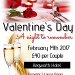 Join us for Valentines 2017.  Call 01509 672427 to book.