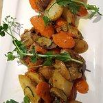 legumes accompagnant le faux filet, cruel manque d assaisonnement...