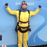 All kitted up just before my Sky Dive!