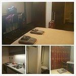 Room, kitchen, shower