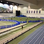 Track and throws area, fieldhouse also has beautiful ice rink, and basketball arena