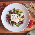 Our fresh Greek salad with feta cheese