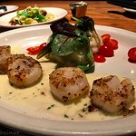 Sea Scallops served on Mashed Potatoes