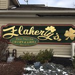 Flaherty's Three Flags Webster - sign out front
