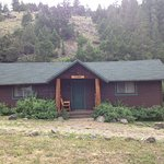Our wonderful cabin! We saw deer behind it on the hill.