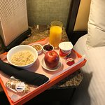 Complimentary signature breakfast delivered right to your room!
