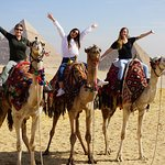 Camel ride and the Giza Pyramids