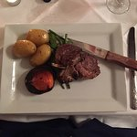 Great rack of lamb, perfectly cooked (rare) and very tasty