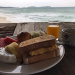 Great breakfast spread and a seat overlooking the ocean at the sister property Chaweng Cove.