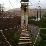 Giant bridge on the ropes course!