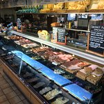 selection of cold meats, fish & salads for your sandwiches