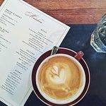 Soy cappuccino at Maialino