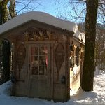 Cute ski storage shed